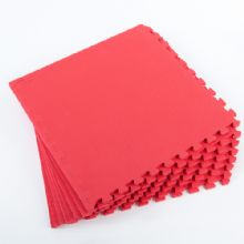 60 x 60 CM RED INTERLOCKING EVA SOFT FOAM EXERCISE FLOOR MATS GYM GARAGE OFFICE KIDS PLAY [ RED ]